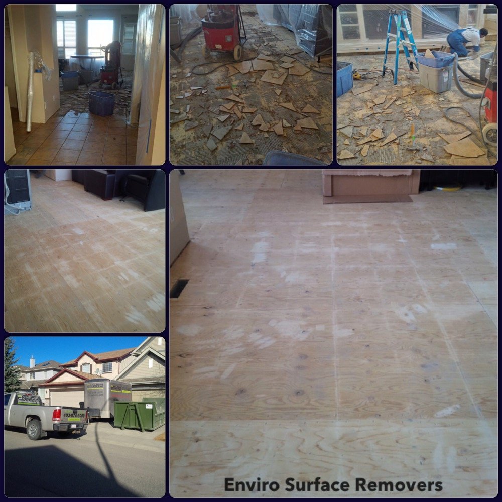 Dustles Tile Removal - Thinset Removal, Calgary, Edmonton, Vancouver